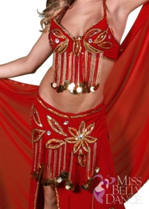 MissBellydance.com bedluh's are custom made to fit all dancers in a variety of sizes, it's tailor made.