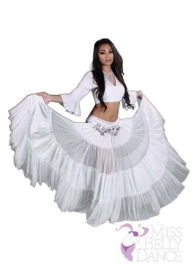 Custom made skirts and blouses for bellydance professionals.