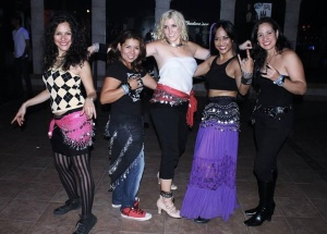 Friends enjoying MissBellydance.com