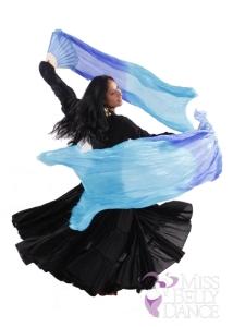 Fan veils can represent water
