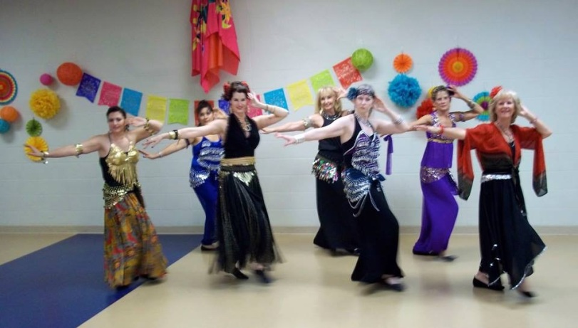 Kate and friends bellydance